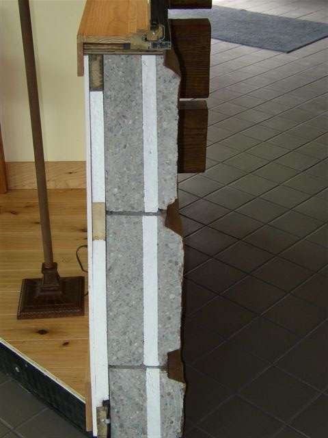 Missoula Airport Concrete Log Wall Sample