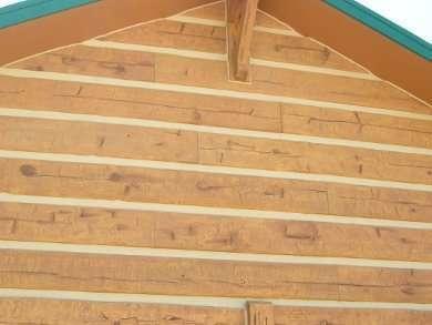 Hand-Hewn Golden EverLog Concrete Log Siding