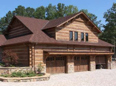 Larger Concrete Log Siding Panels