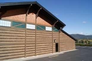 Idaho Resort Used Natural Brown Hand-Hewn Concrete Log Siding
