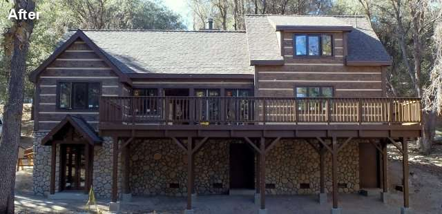 California Residence After Fire Rated Concrete Siding Installed