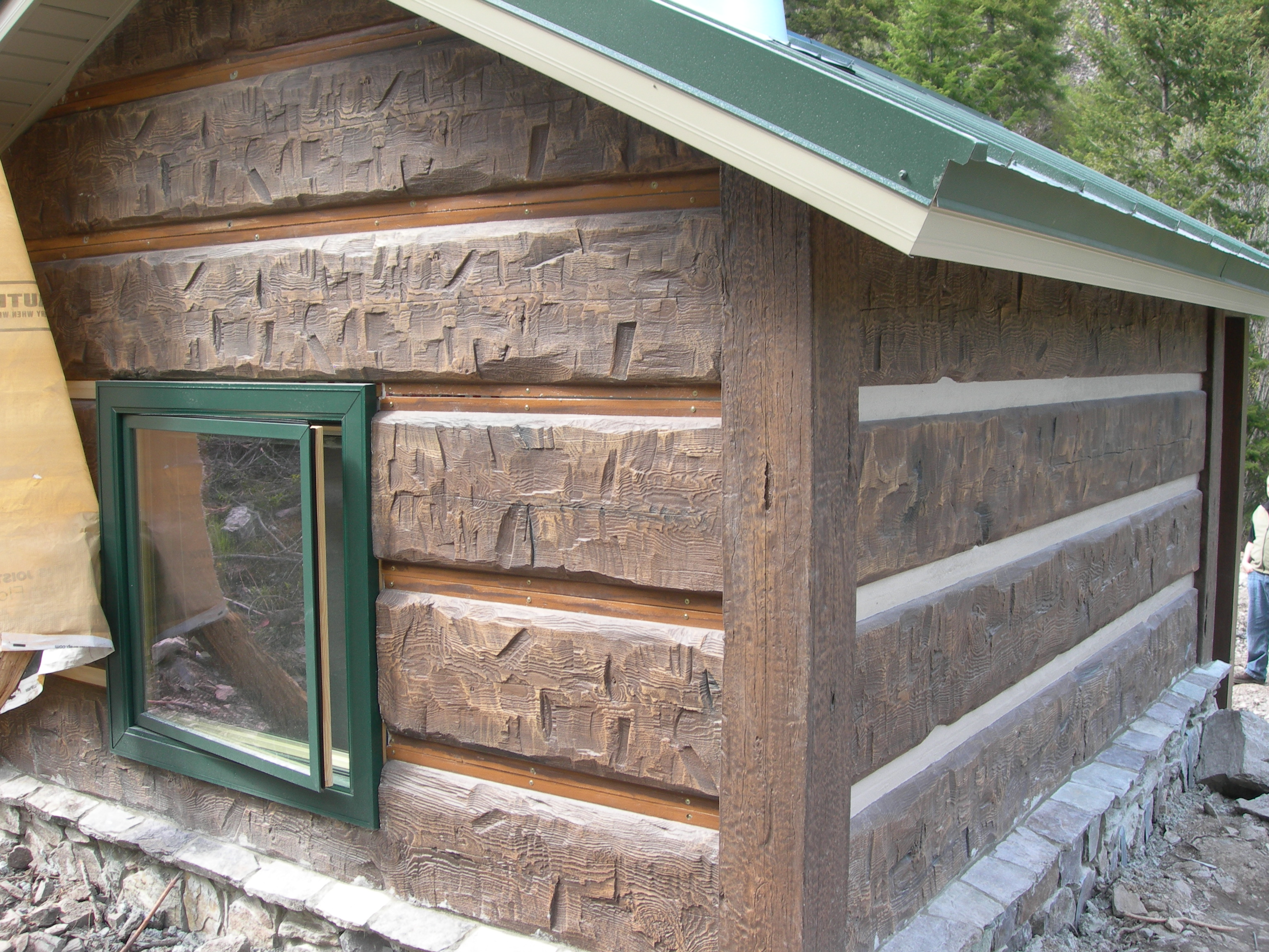 Chinking What Is It And How Is It Used In Concrete Log Homes?. Full resolution‎  file, nominally Width 3072 Height 2304 pixels, file with #8D6B3E.