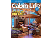 Cabin Life Magazine Cover Image featuring Concrete Logs