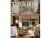 Teton Home and Living Magazine Cover Featureing Concrete Logs