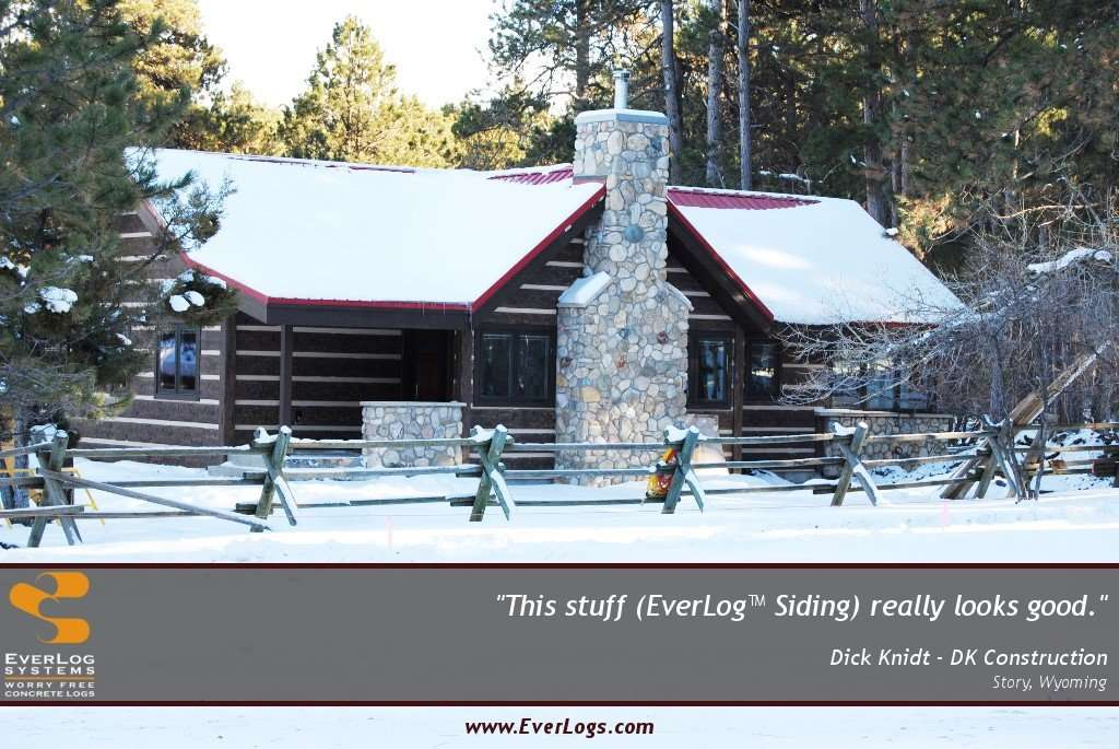 Dick Knidt EverLog Concrete Log Siding Testimonial