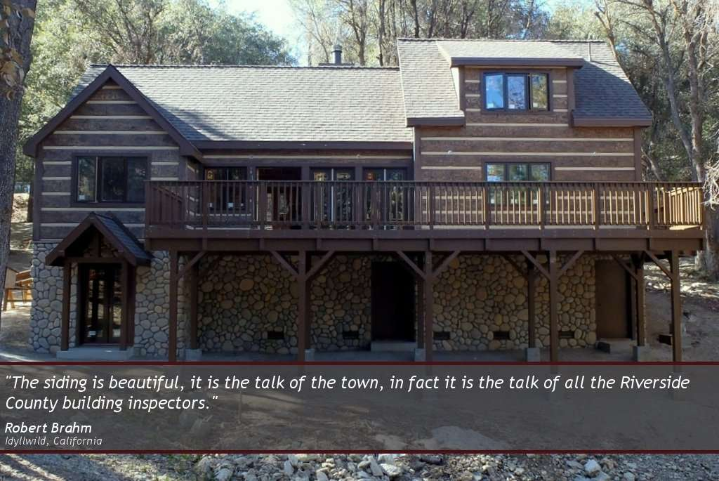Robert Brahm EverLog Concrete Log Siding Testimonial