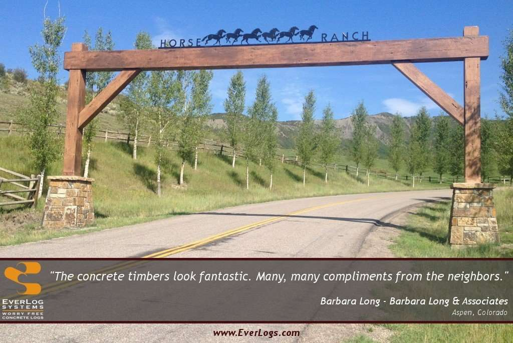 Barbara Long Horse Ranch Entry EverLog Timber Testimonial