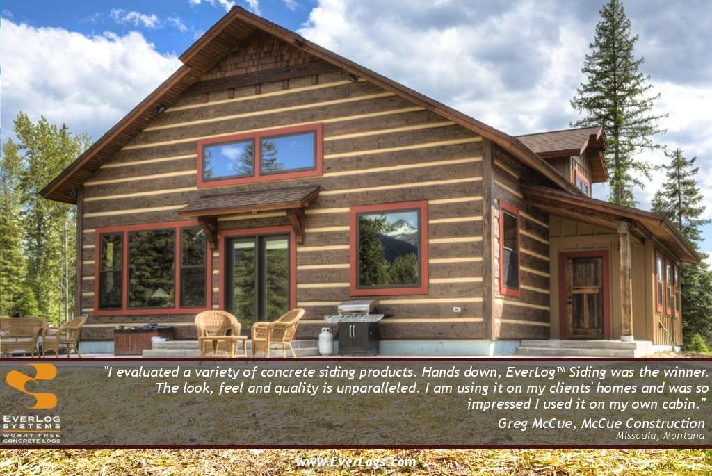Greg McCue EverLog Concrete Log Siding Testimonial