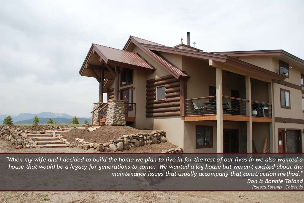 Don & Bonnie Toland EverLog Concrete Logs Testimonial