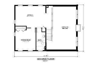 Salida Colorado Show Home Second Floor Plan