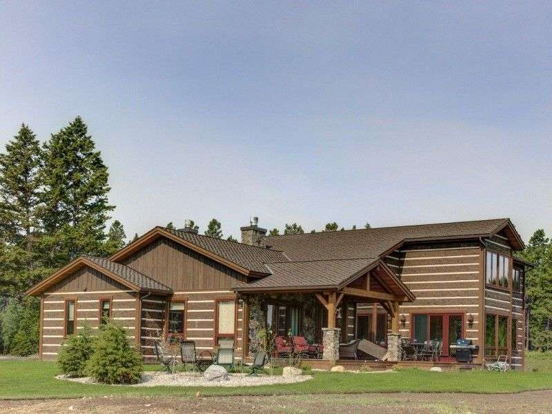 Image of Kings Point, Flathead Lake Montana Concrete Log Siding Cabin - made with Everlogs Concrete Logs, Siding, and Timbers