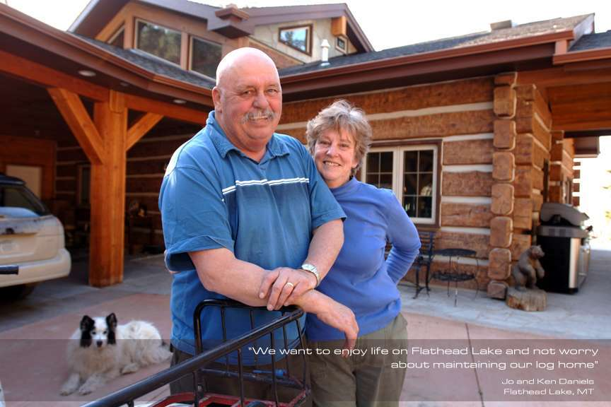 Jo and Ken Daniels EverLog Concrete Log Testimonial