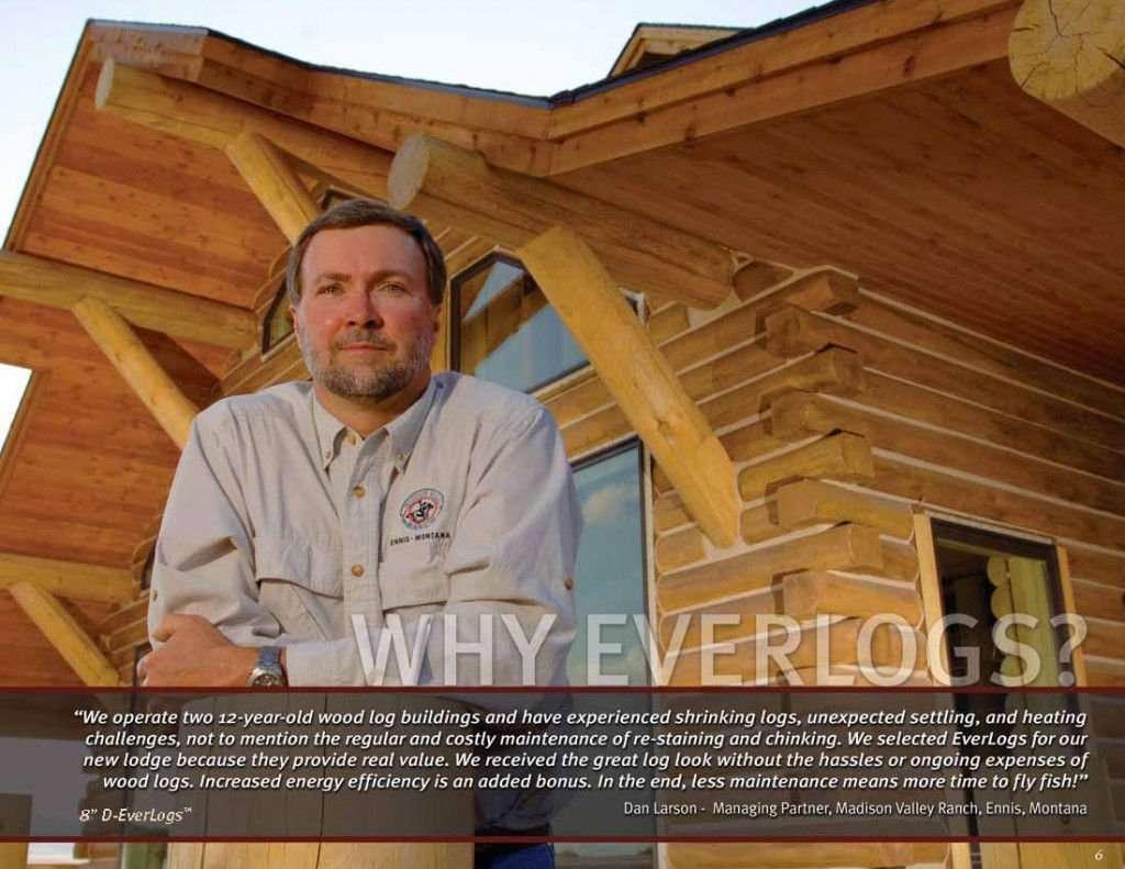 Dan Larson - Madison Valley Ranch EverLog Concrete Log Testimonial