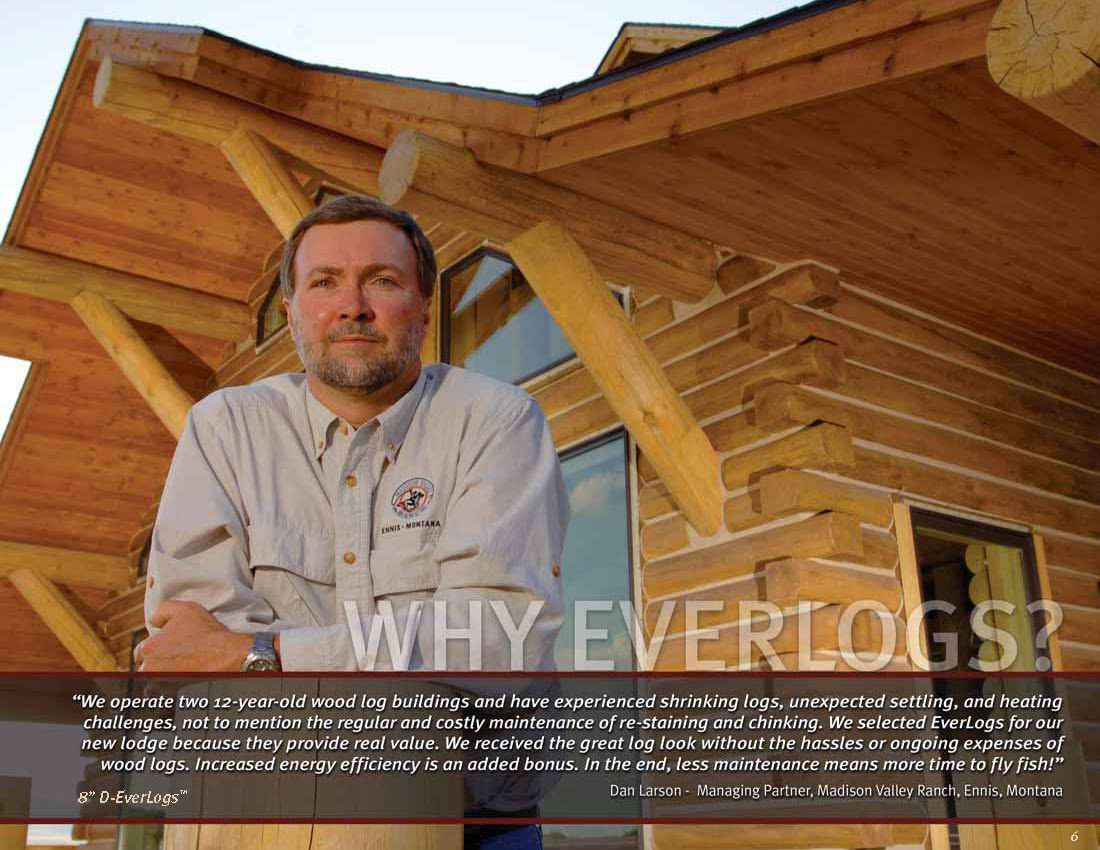 Dan Larson - Madison Valley Ranch EverLog Concrete Log Testimonial