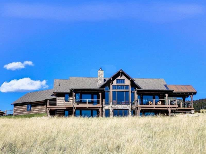 Image of Philipsburg, Montana Residence - made with Everlogs Concrete Logs, Siding, and Timbers