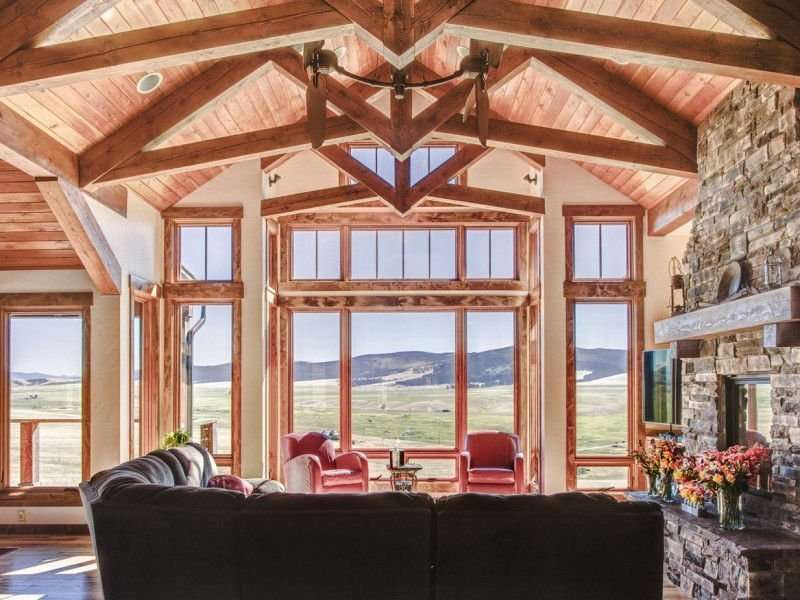 Philipsburg, Montana Concrete Log Siding Home