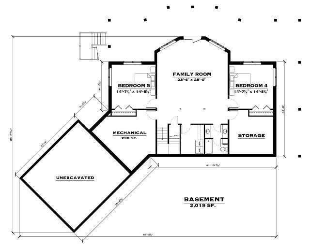 The Blue Ridge: Basement Floorplan