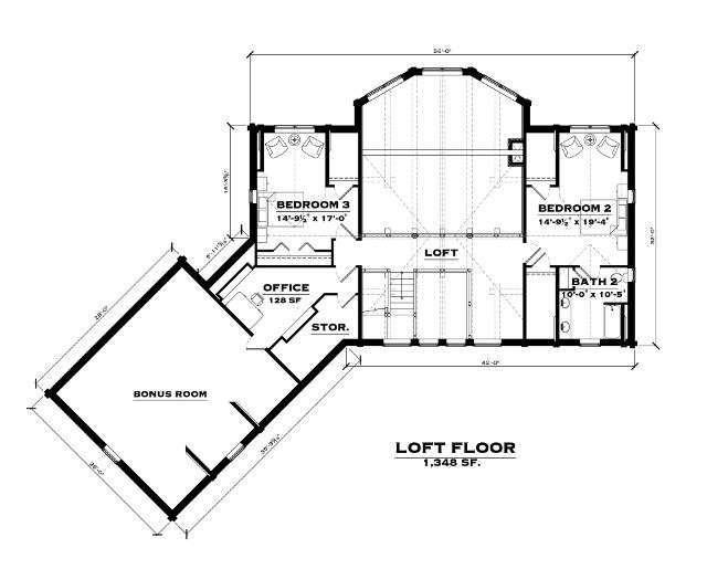 The Blue Ridge: Loft Floorplan