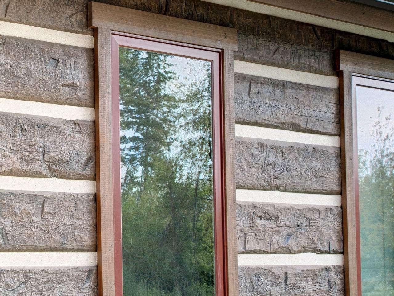 Authentic Hand-Hewn Concrete Log Siding