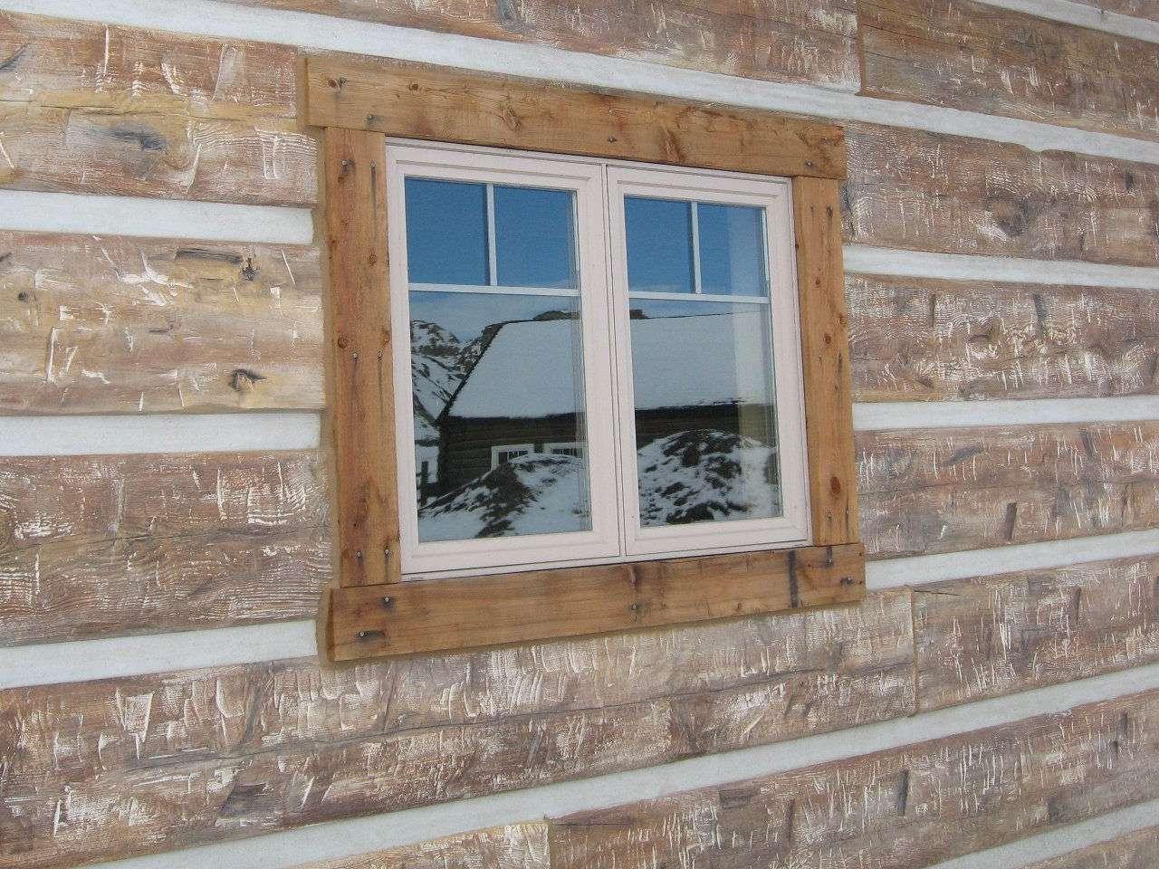 "16"" Hand-Hewn Concrete Timber Siding"