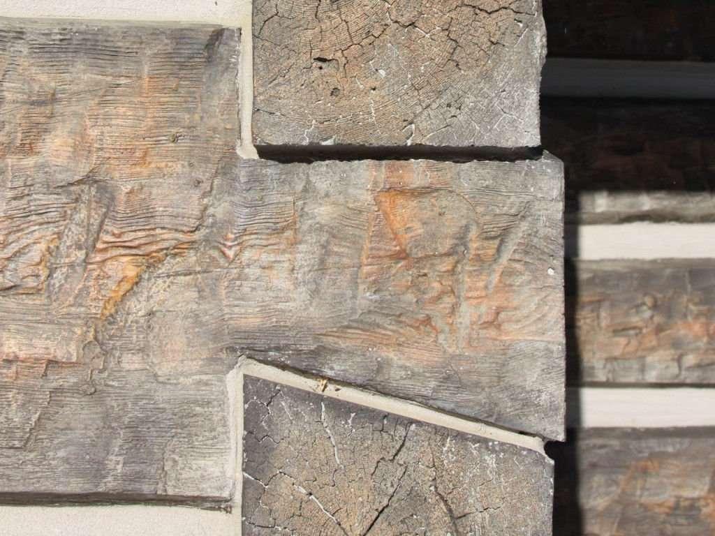 Hand Hewn Log Siding Dovetail Corners Everlog Concrete Log