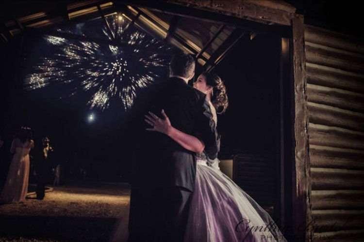 "Barnett Estates Wedding Venue in Krum, Texas featuring 12"" Round EverLog Siding"