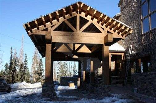 Image of Brian Head Residence - made with Everlogs Concrete Logs, Siding, and Timbers