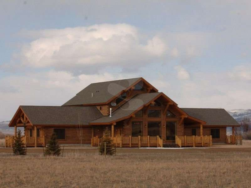Image of Ennis project - made with Everlogs Concrete Logs, Siding, and Timbers