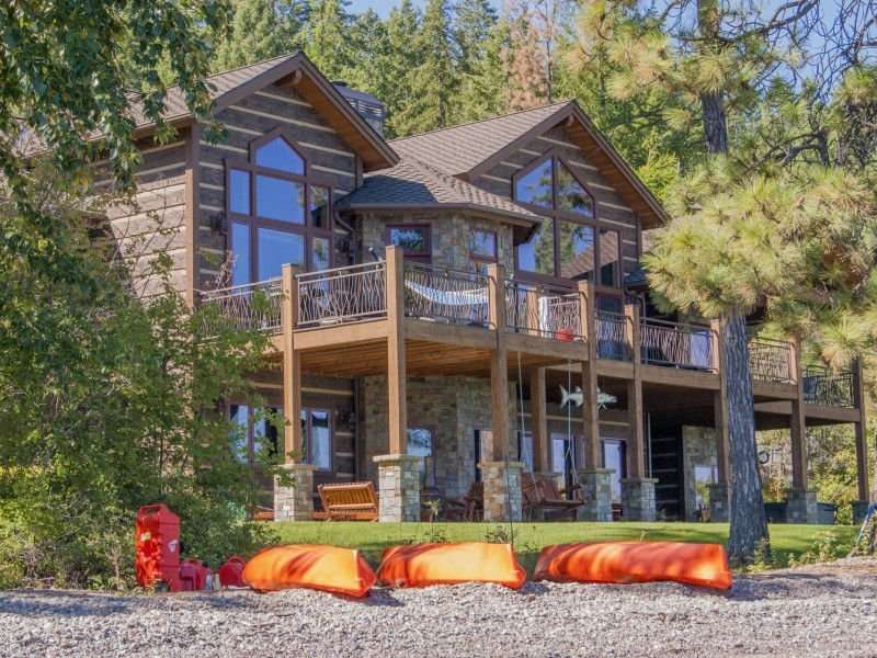 Image of Kings Point, Flathead Lake Montana Project - made with Everlogs Concrete Logs, Siding, and Timbers