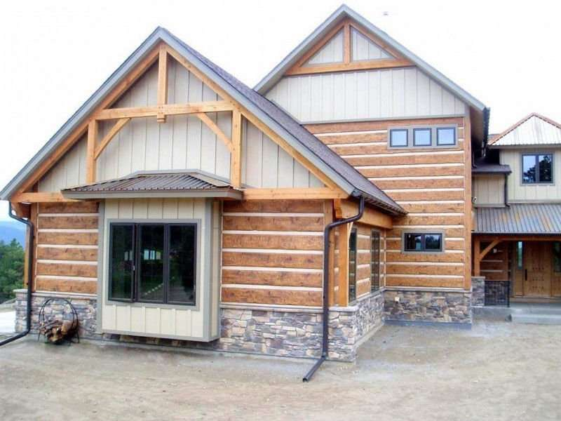 Image of Golden, Colorado Residence - made with Everlogs Concrete Logs, Siding, and Timbers