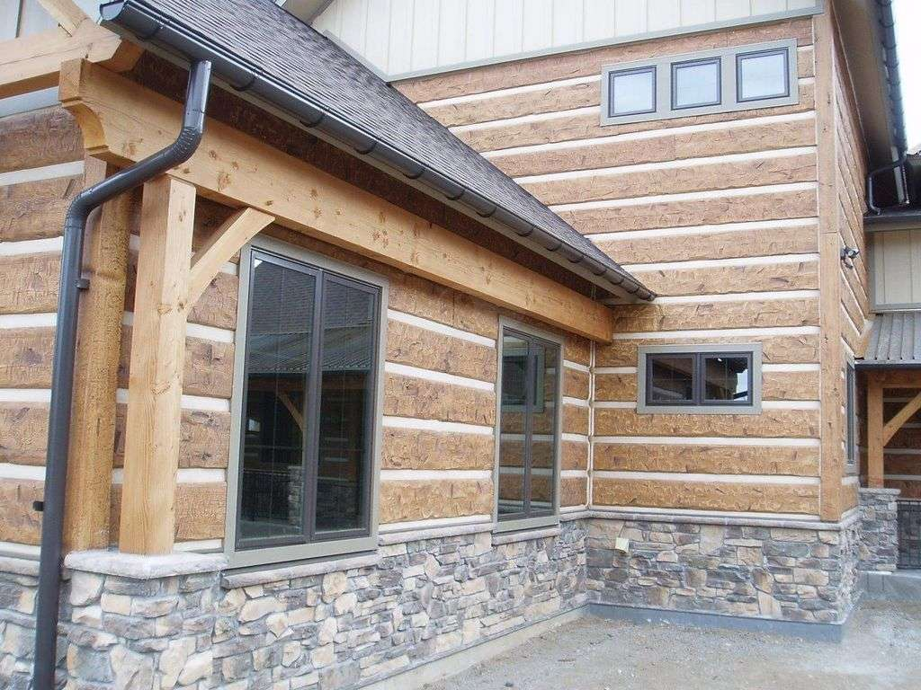 Golden colorado residence everlog systems for Log siding for houses