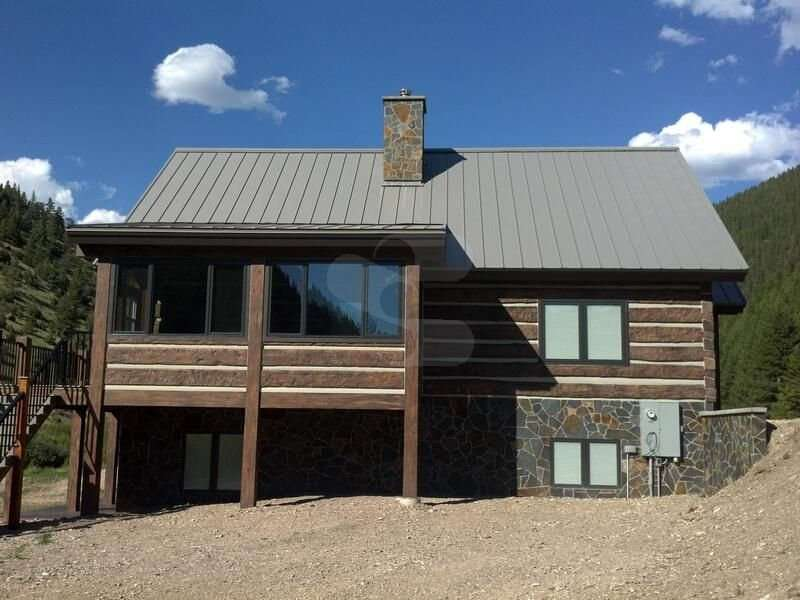 Image of Helena, Montana Residence - made with Everlogs Concrete Logs, Siding, and Timbers
