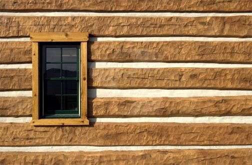 Image of Home Office project - made with Everlogs Concrete Logs, Siding, and Timbers
