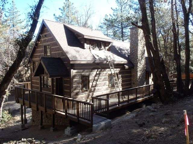 Image of Idyllwild, California Residence - made with Everlogs Concrete Logs, Siding, and Timbers