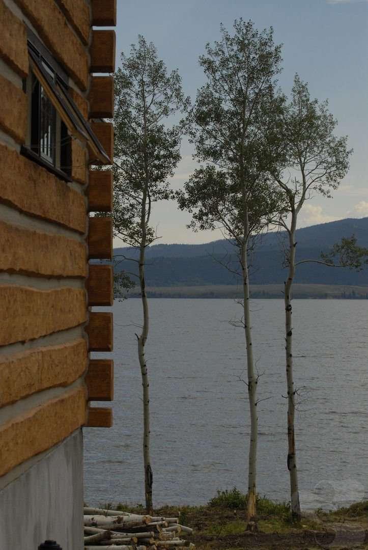 Island Park, Idaho Concrete Log Cabin
