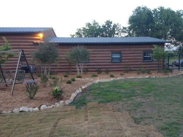 Image of Krum, Texas project - made with Everlogs Concrete Logs, Siding, and Timbers