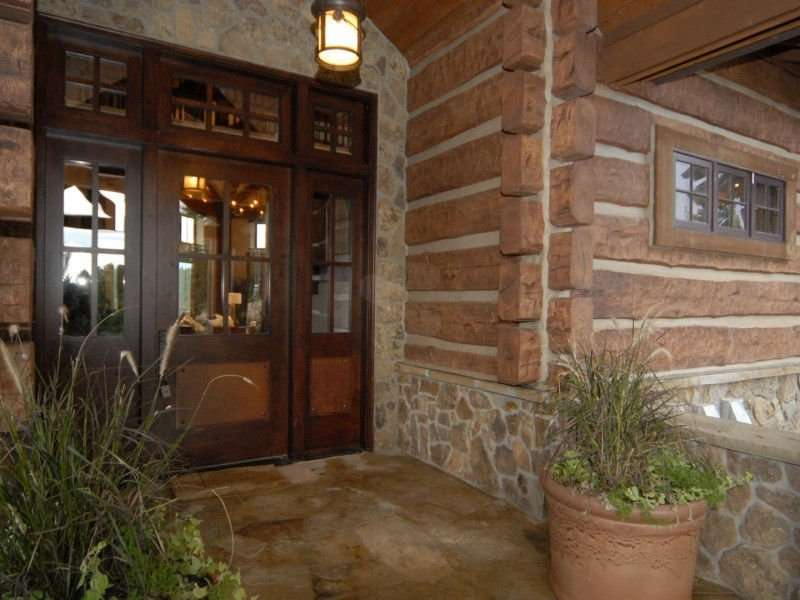 Image of Larkspur, Colorado Residence - made with Everlogs Concrete Logs, Siding, and Timbers