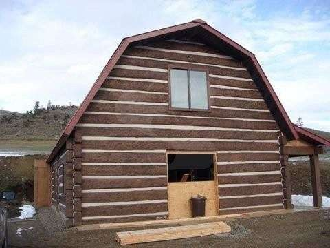 Image of Luther, Montana Residence - made with Everlogs Concrete Logs, Siding, and Timbers
