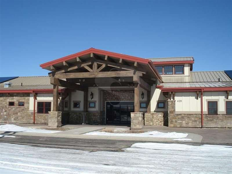 Image of Marbleton, Wyoming Senior Center - made with Everlogs Concrete Logs, Siding, and Timbers