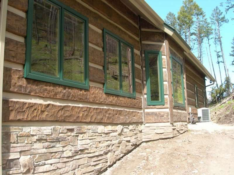Image of Missoula Concrete Log Home Residence - made with Everlogs Concrete Logs, Siding, and Timbers