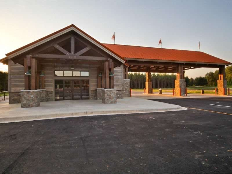 Image of Muddy Bottoms ATV Park, Serepta, Louisiana project - made with Everlogs Concrete Logs, Siding, and Timbers