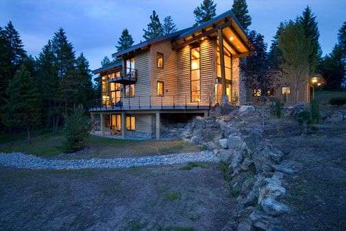 Image of Nine Mile, Montana Residence - made with Everlogs Concrete Logs, Siding, and Timbers