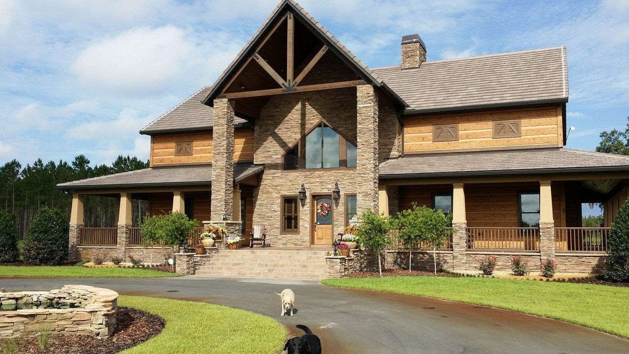 Featured Concrete Log Home Old Town Florida Everlog