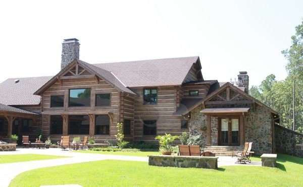 Image of Country Bucks, Olla, Louisiana Hunting Lodge - made with Everlogs Concrete Logs, Siding, and Timbers