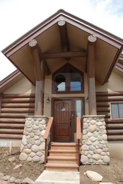 Image of Pagosa Springs, Colorado Residence - made with Everlogs Concrete Logs, Siding, and Timbers