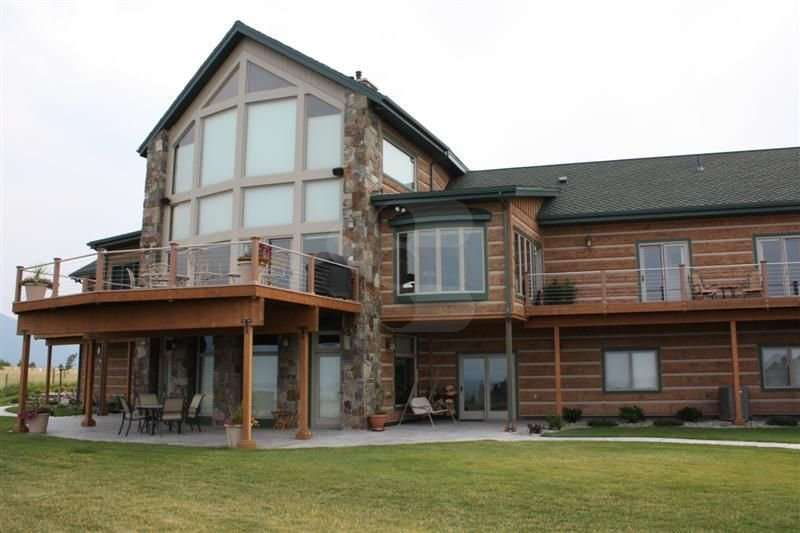 Image of Polson, Montana Residence - made with Everlogs Concrete Logs, Siding, and Timbers