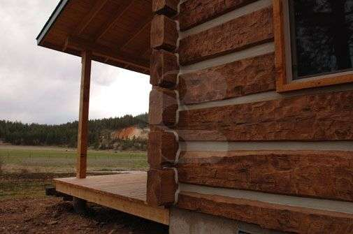 Image of Potomac, Montana Cabin - made with Everlogs Concrete Logs, Siding, and Timbers