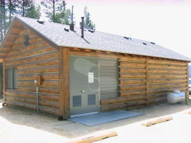 Image of Redfish Lake Lodge Restroom, Redfish Lake, Idaho - made with Everlogs Concrete Logs, Siding, and Timbers