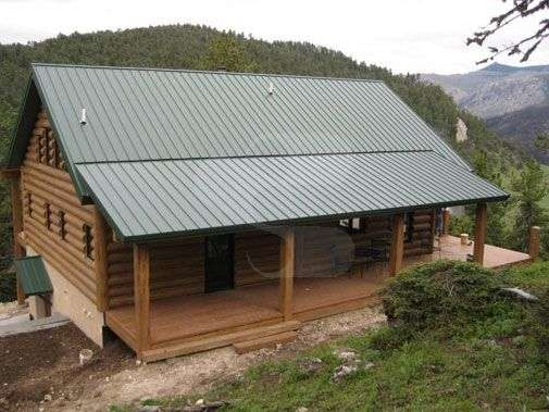Image of Sheridan, Wyoming Cabin - made with Everlogs Concrete Logs, Siding, and Timbers