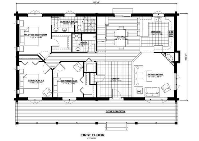 Spanish Peaks First Floor Plan